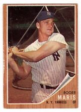 1962 Topps #1 Roger Maris - New York Yankees, Very Good - Excellent Condition