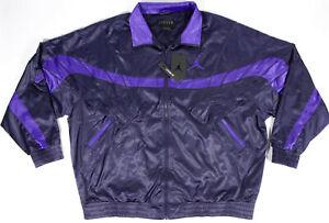 NIKE Air JORDAN 5 AJ5 satin Jacket- XL- NEW-$120-retro full zip lined track coat