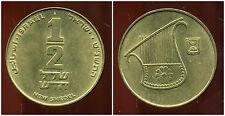 ISRAEL 1/2  new  sheqel   1999