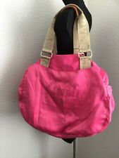 Victoria's Secret Love Pink Women's  Hot Pink Shiny Duffel Shoulder Bag Purse