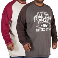 Mens Jersey Top D555 Duke Big King Size Long Sleeved T Shirt Crew Neck Fashion