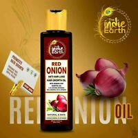 The Indie Earth Red Onion Hair Oil for Growth with Argan,Jojoba | 200ML