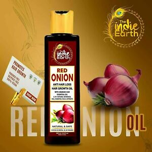 The Indie Earth Red Onion Hair Oil for Growth with Argan,Jojoba   200ML