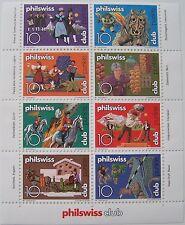 Zwitserland - Veldeel van 8 Philswiss club zegels (1)