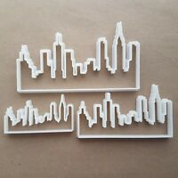 City Skyline New York Shape Cookie Cutter Dough Biscuit Pastry Fondant Sharp