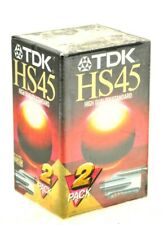 2 x TDK HS45 VHS-C  45 MINUTES CAMCORDER VIDEO CAMERA CASSETTE TAPES NEW SEALED