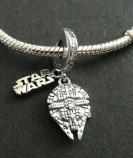 Star Wars Millennium Falcon 925 Sterling Silver Charm comes in a gift bag