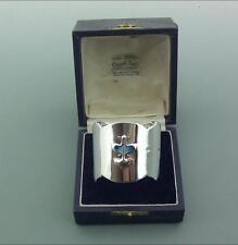Antico Solid Argento Sterling E Smalto Art Nouveau Napkin ring 1905