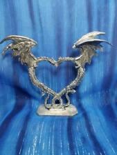 Dragon Couple Wedding Cake Topper Pewter Figurine Fellowship Foundry US