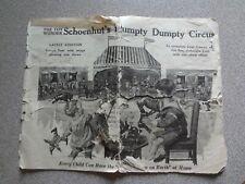 Original Schoenhut Antique Doll Toy Advertising Booklet Music
