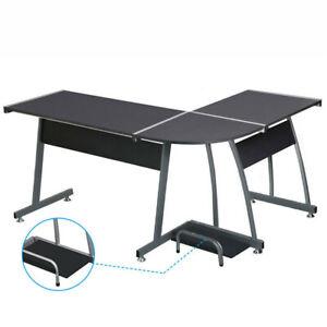 L-shaped Desk Home Office Desk Corner Computer Gaming Laptop Table Workstation