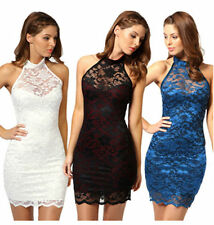 Lace Halterneck Party Stretch, Bodycon Dresses for Women