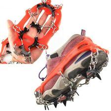 New 11 Teeth Crampons Anti-skid Steel Chain Spikes Child Snow Boot Shoes Gripper