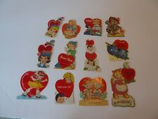 Valentine Day Card (12) Die Cut 1950's #9003742 (S1
