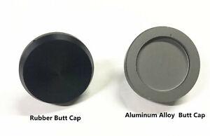 1Pc Aluminum alloy / Rubber Butt Cap Fishing Rod Building Repair
