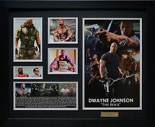 "Dwayne Johnson ""The Rock""  Limited Edition Framed Memorabilia New (b)"