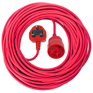 10M Mains Power Cable UK Plug for QUALCAST Lawnmower Trimmer