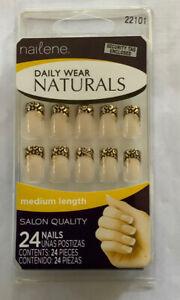 Artificial Nails Daily Wear Natural Medium Length Salon Quality  24 Nails 22101