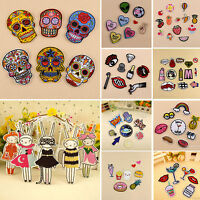 2-13pcs/Set Cute Embroidery Sew On Iron On Patch Badge Fabric Applique Craft