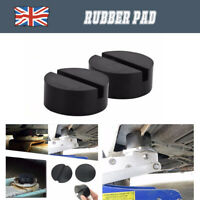 2× Classic Car Rubber Pad Slots Jack Hydraulic Ramp Jacking Adapter Tool Trolley