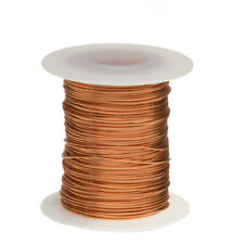 "24 AWG Gauge Bare Copper Wire Buss Wire 1000' Length 0.0201"" Natural"