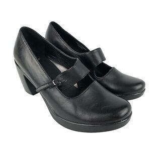 Dansko Womens Size EU 37 US 6.5 - 7 Black Leather Tara Nappa Work Heels As New