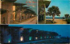 Myrtle Beach South Carolina~Sandy Shores Apartments @ Night~1967 Postcard