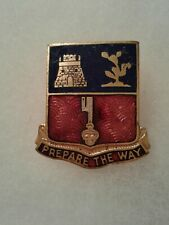 Authentic WWII US Army 112th Engineer Regiment DI DUI Crest Insignia