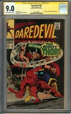 Daredevil #30 CGC 9.0 VF/NM Signed STAN LEE Thor Cobra Mister Hyde app Not 9.8