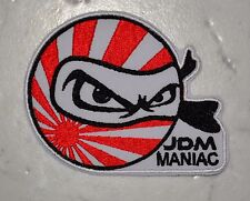 JDM MANIAC IRON ON PATCH Aufnäher Parche brodé patche toppa Tuning Japan Toyota