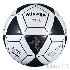 Mikasa FT5 Goal Master Soccer Ball Size 5 Black/White Official Footvolley Ball