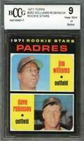 Jim Williams / Dave Robinson Rookie Card 1971 Topps #262 Padres BGS BCCG 9