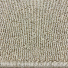 Berber Carpet Remnant Roll End In Desert / Beige Wool Loop Rib Pile 4x8m 38% OFF
