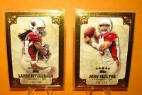2012 FIVE STAR - 2pc Lot  LARRY FITZGERALD /139 & JOHN SKELTON /139 - Cardinals
