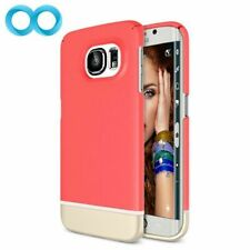 Galaxy S6 Edge Case: Red Pink Rose Gold Shockproof Protection