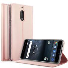 Handy Hülle Nokia 6 Book Case Schutzhülle Tasche Slim Flip Cover
