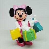 Vintage Minnie Mouse Shopping Bags PVC Figure Disney Applause Cake Topper
