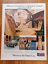 1967 Mercury Cougar XR-7 Ad  The Man's Car