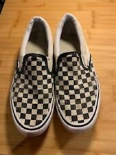 Mens vans size 10 used Black & White Square Check design