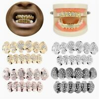 HIP HOP Teeth Grillz Top Bottom 6 Teeth Grills Dental Cosplay Caps Party Jewelry