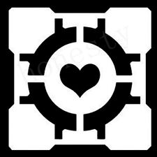 Companion Cube Portal Half Life Gamer Window Auto Car Door Decals Stickers