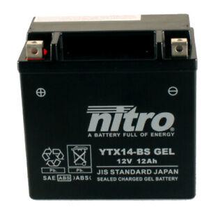 Batterie Piaggio XEvo 400 i.e. M52101 Bj.2008 Nitro YTX14-BS GEL geschlossen