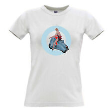 Scooter Girl T-shirt 100% cotton scooters mods retro vespa lambretta vintage