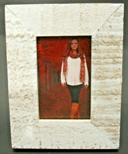 """2x3"""" White Distressed Rustic Wood Photo Picture Frame"""