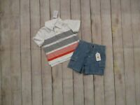 TCP Gymboree Boys 2 Piece Polo Top Shorts Outfit Size 12-18 Months Set Lot NEW
