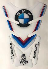 BMW R1200GS DAKAR TANK PAD KIT M COLOURS * AWESOME NEW WHITE TANKPAD
