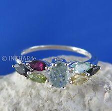 Echte Edelstein-Ringe im Cluster-Stil mit Turmalin für Damen