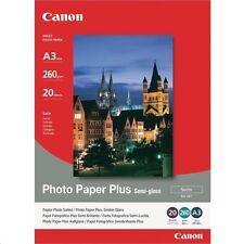 Canon SG-201 (A3) 260g/m2 Satin Finish Semi Gloss Photo Paper Plus (20 Sheets)