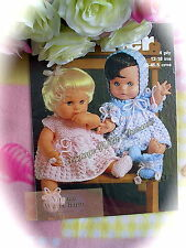 Vintage Knitting Pattern 2 Sets Of Fabulous Dolls Clothes ONLY 99p!!