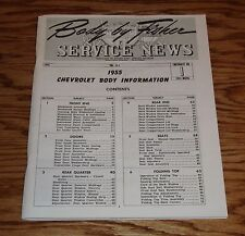 1955 Chevrolet Body by Fisher Service News Manual Vol 14 No 1 55 Chevy